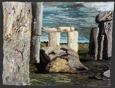Stonehenge: Louisa Creed rag rug