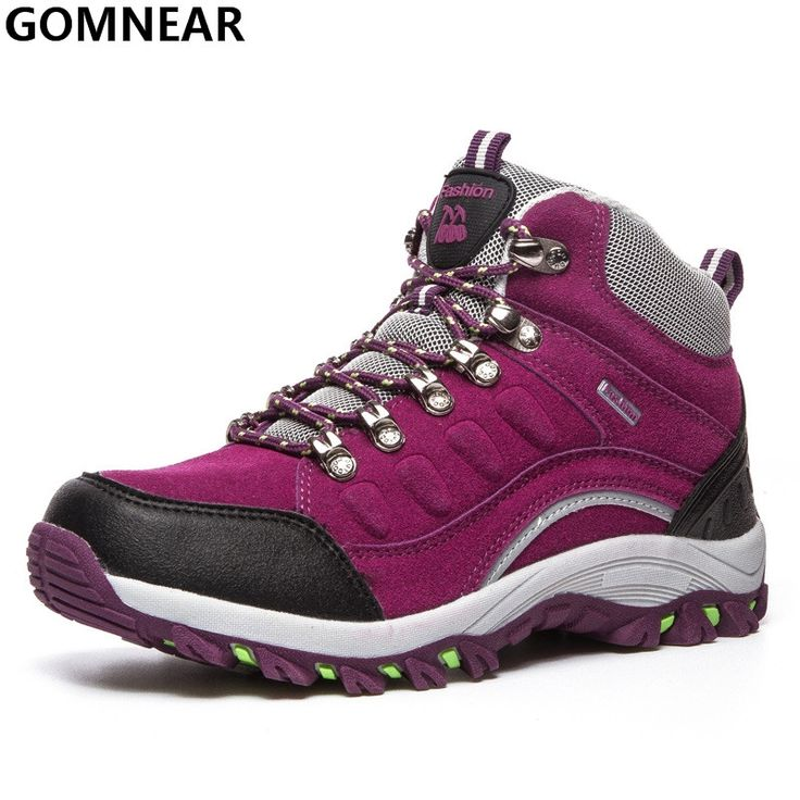 36.60$  Buy now - GOMNEAR Women's Hiking Shoes Outdoor Trekking Moutain Hiking Antiskid Athletic Boot Female Trend Winter Sport Shoes For Climbing  #SHOPPING