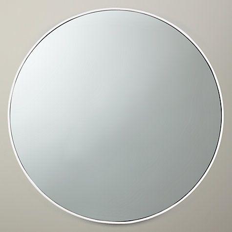 buy john lewis scandi metal mirror white dia 51cm online at johnlewis