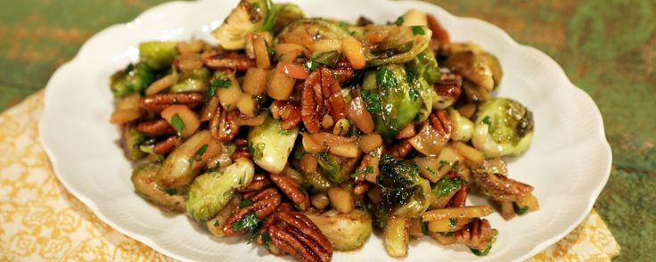 Caramelized Brussel Sprouts with Apples and Pecans Michael