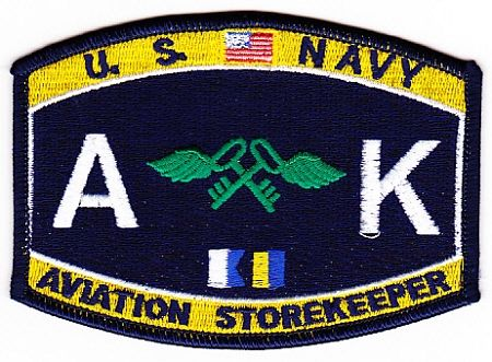US Navy AK Aviation Storekeeper Rate Patch $7.75