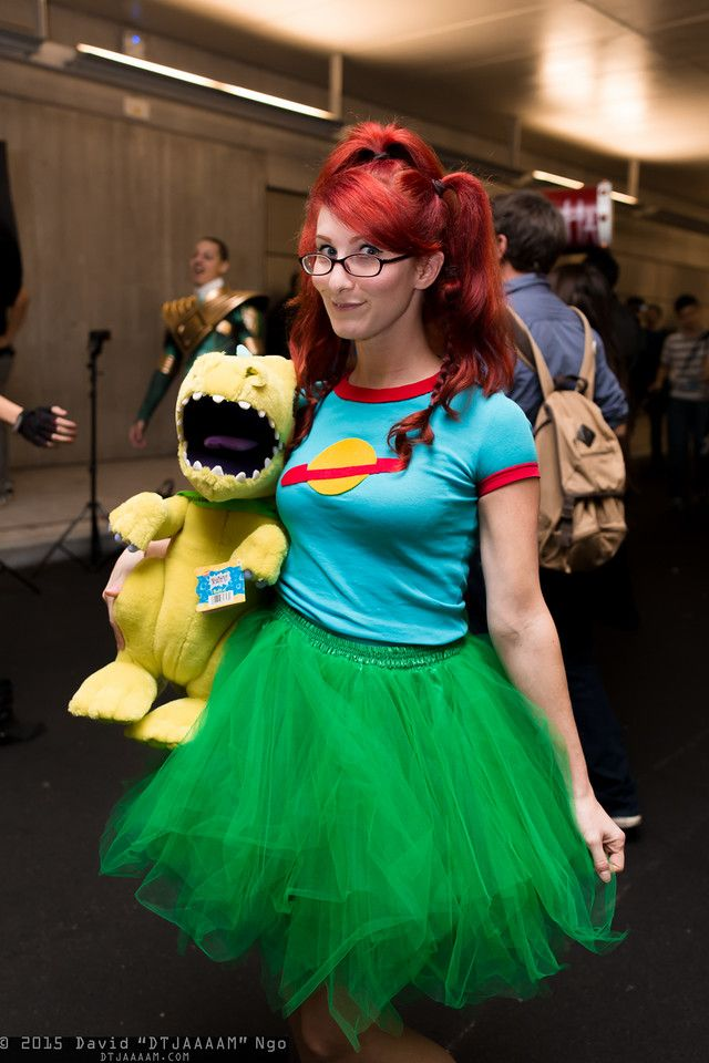 Chuckie Finster and Reptar (Rugrats) #nycc 2015 #nickelodeon #rule63