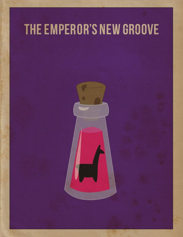 i LOOOOVE these new minimalist posters/Emperor's New Groove -Minimalist Movie Poster by April Morales, via Behance