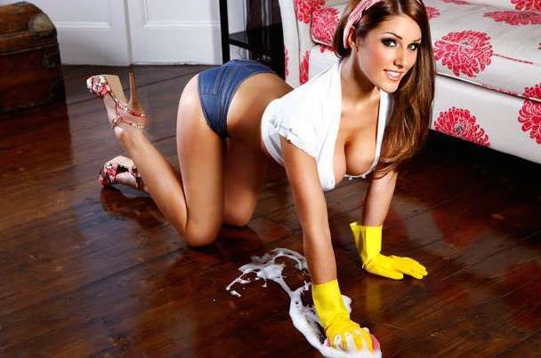 46 Pictures of Busty Babes Doing Chores