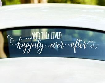 And So The Adventure Begins Wedding Car Window by RoyalBrides