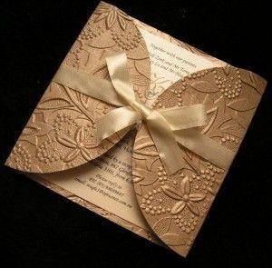 gold Wedding Card Invitations