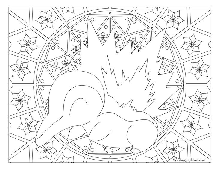#155 Cyndaquil Pokemon Coloring Page