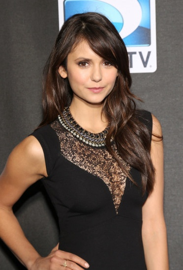 'Vampire Diaries' star Nina Dobrev wearing the Tempest Statement Necklace from Stella & Dot. www.stelladot.com/emarkland