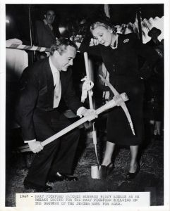 Buddy Rogers and Mary Pickford breaking ground at JHA bld site
