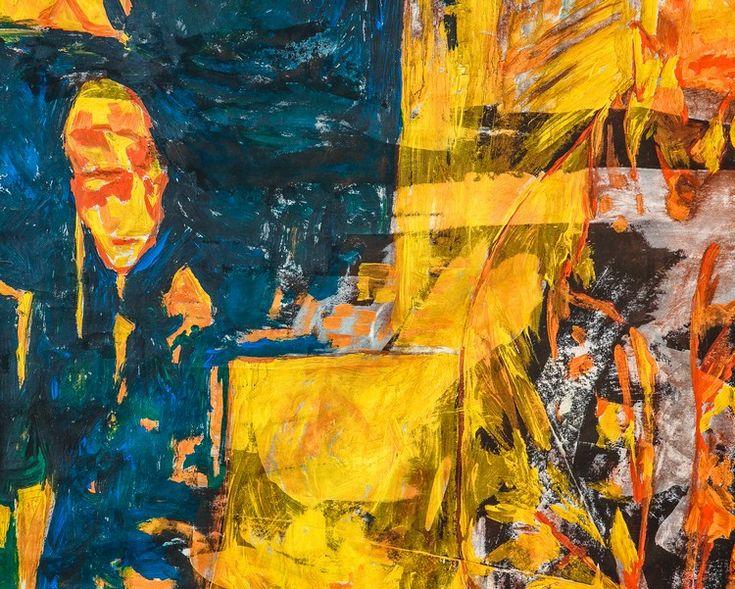 Сергей Полупанов «Ну ты идёшь?!» 2014. Флизелин, акрил. 150х150 см. #art #contemporaryart #russianart