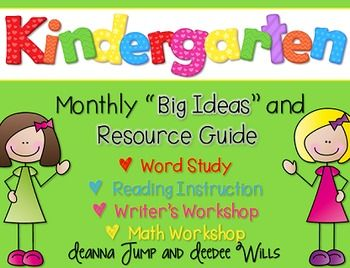 Kindergarten Curriculum Map FREEBIE!  Curriculum Maps are a great way to organize your instructional thinking for the year. This freebie included a year long plan for your word study (phonics and phonemic awareness), readers workshop, writers workshop, and math workshop.
