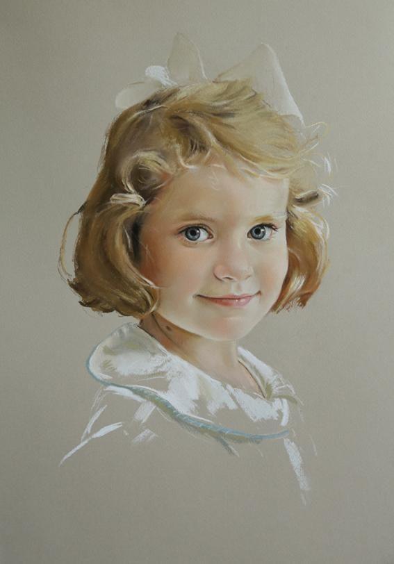 Wonderful pastel portrait by a Portraits, Inc. artist!