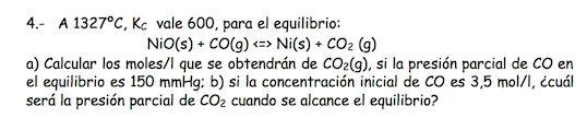 Ejercicio 4,P1, SETIEMBRE 1999. Examen PAU de Química de Canarias. Tema: equilibrio.