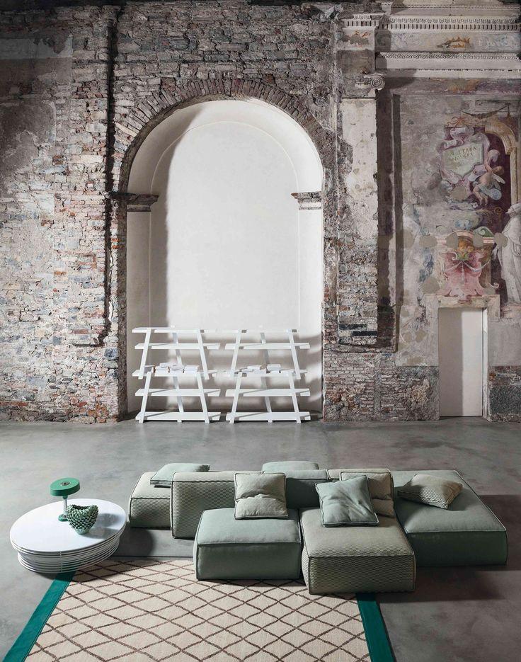 Divano componibile imbottito PEANUT Collezione Peanut by Bonaldo | design Mauro Lipparini