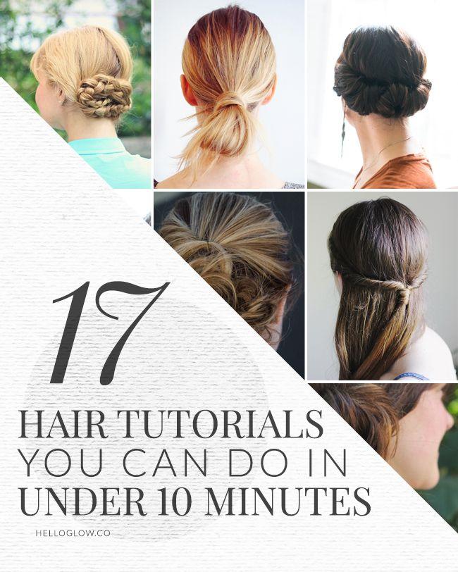 17 Cute + Easy Hair Tutorials   HelloGlow.co