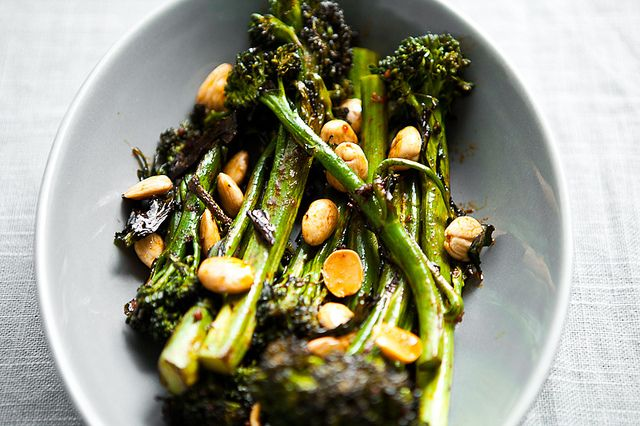 Roasted Broccolini with Smoked Paprika and Marcona Almonds   Flickr - Photo Sharing!