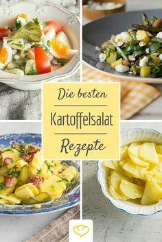 Ob mit Mayonnaise, Speck, mediterran oder leicht - hier kommen unsere liebsten Kartoffelsalat Rezepte! Unmöglich da nur einen Favoriten zu haben - aber entscheide selbst!