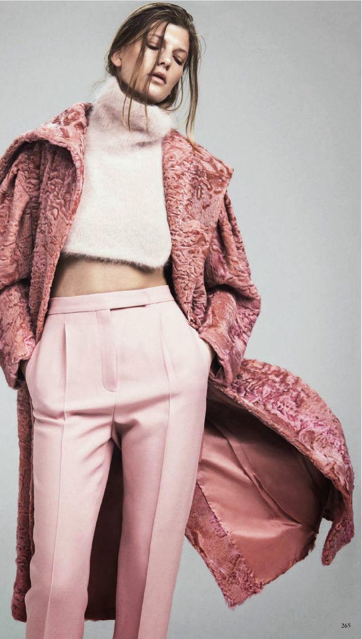 Pink abrigo rosa piel invitada