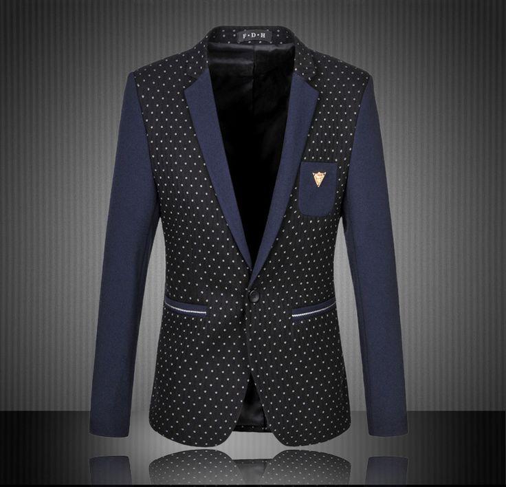 Мужские горошек пиджак Большой размер 4XL 5XL 6XL мужская свободного покроя блейзер белый желтый горошек лоскутное блейзер Masculino мужские пиджак пиджак