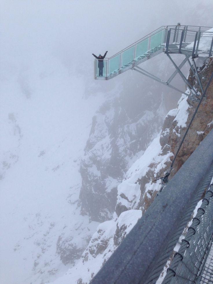 Dachstein Glacier - very scary skywalk 3000 meters high. Ramsau bei Dachstein