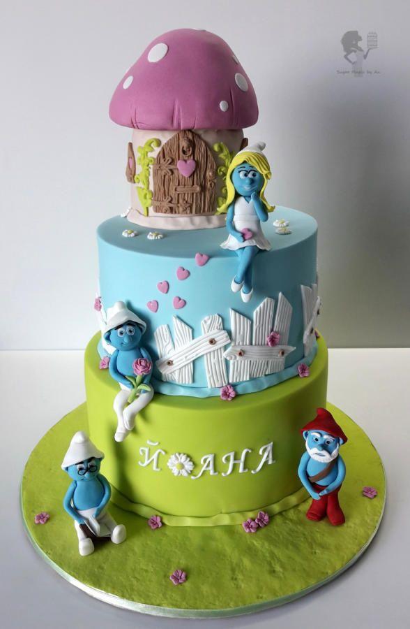 The Smurfs cake cake by Antonia