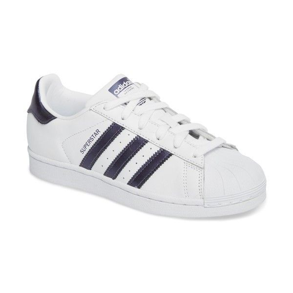 Women's Adidas Superstar Sneaker (5,090 INR) ❤ liked on Polyvore featuring shoes, sneakers, adidas sneakers, adidas footwear, retro sneakers, adidas trainers and adidas shoes