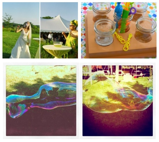 Casual Outdoor Wedding - Games: Bubble Station!