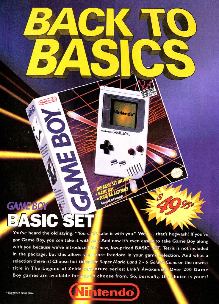 Nintendo Game Boy Ad - Back To Basics (1993)