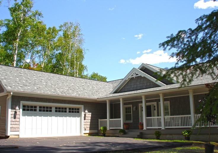 The cottage front with craftsman garage doors long for Garage door repair dickinson