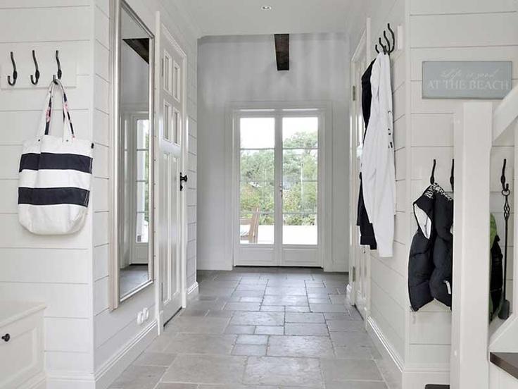Beach House in Sweden #Beach #Decor #Entry #Mudroom #White
