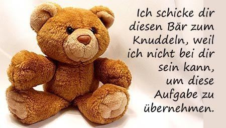 Ein Bär zum knuddeln | Sprüche | Teddy bear, Miss you und Bear