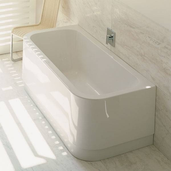 Duravit happy d back to wall bathtub white for 5 ft tub dimensions