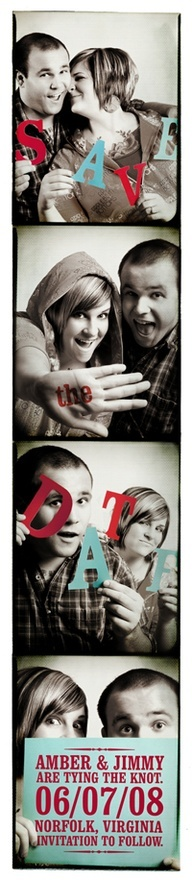 Photo Booth Save-the-Date DIY Photo Strip wedding-ideas