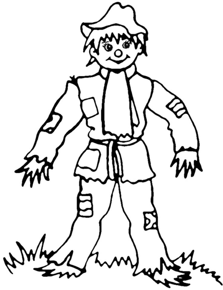 Autumn Coloring pages Scarecrow Fall coloring pages