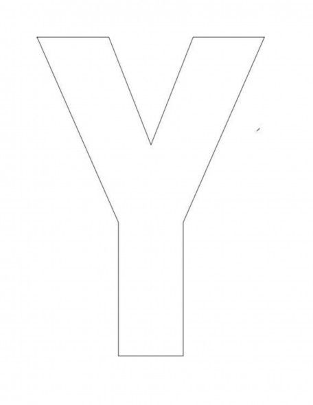 alphabet letter y template for kids