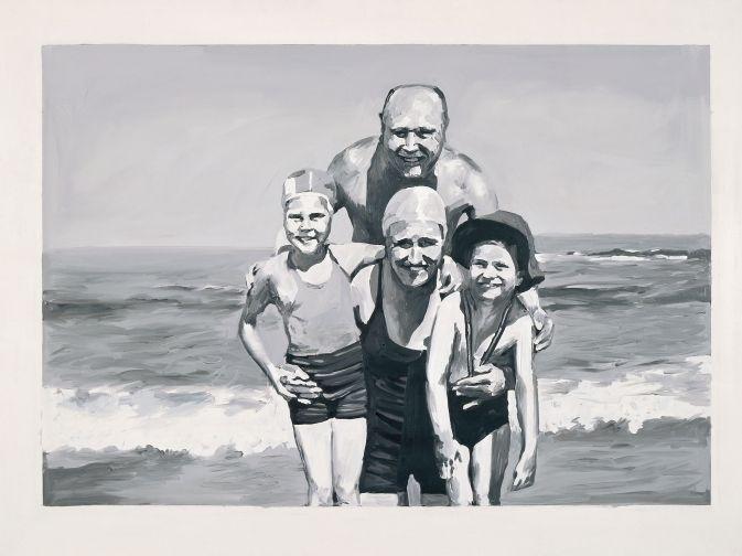Gerhard Richter, Familie am Meer Family at the Seaside  1964 150 cm x 200 cm Catalogue Raisonné: 35  Oil on canvas