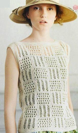 Вязание топа спицами