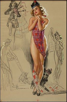 tartan + pin up =: Scottish Pinup, Pinup Artists, Tartan Plaid, Munson Tartan, Vintage Pinup, Pin Up Art, Munson Pin Up, Pinup Girls, Pin Up Girls