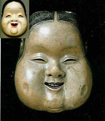 Oto mask is regarded as the archetype of okame mask