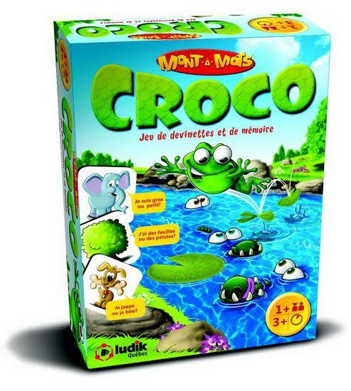Deux façons de jouer : répondez correctement aux devinettes ou trouvez deux images semblables pour faire bondir votre grenouille d'un nénuphar à l'autre, sans tomber sur un crocodile.