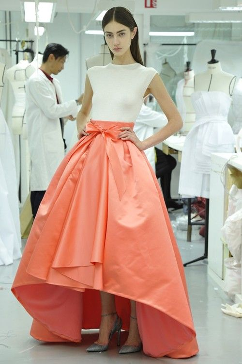 """Since the 1940s where Dior dominated fashion with their historical """"New Look"""", they have resurfaced similar silhouettes in their contemporary designs such as this Fall 2013 look. The top is slim and for-fitting, while the skirt holds all the fullness of the outfit, accentuating the bust, waist, and hips in the most flattering and tasteful way. 4/6/15"""
