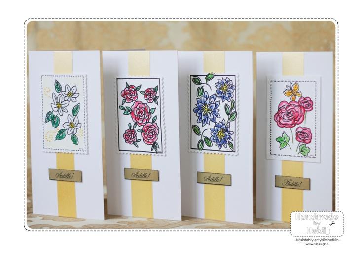 Cards for Mother's Day. / Äitienpäiväkortteja.