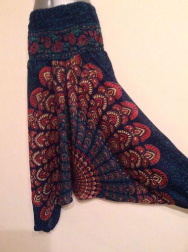 NEW Hareem harem hippy boho Mandala baggy trousers pants gypsy yoga