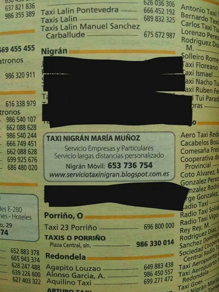 Taxi Nigrán María