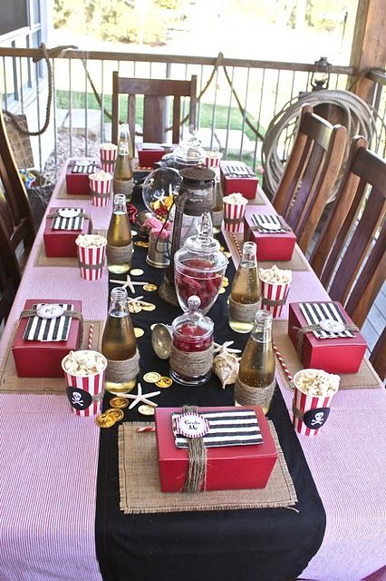 #Pirate party tablescape and favors