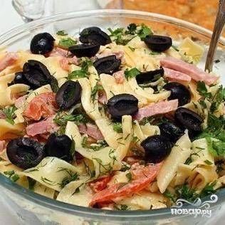 Итальянский салат с сыром и макаронами - пошаговый рецепт с фото на Повар.ру