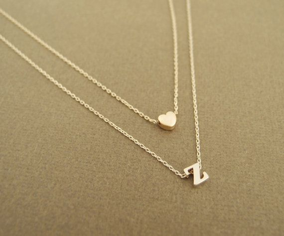 Hey, I found this really awesome Etsy listing at https://www.etsy.com/ru/listing/158056410/heart-and-initial-layered-necklace