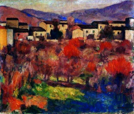 Ardengo Soffici - Tramonto a Poggio a Caiano (1925)