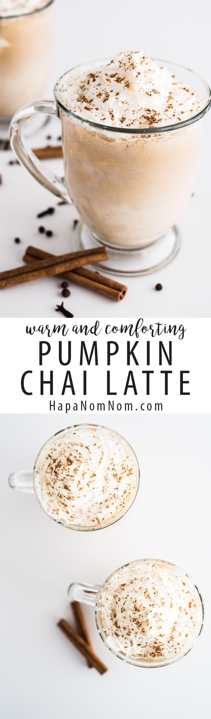 Warm and Comforting Pumpkin Chai Latte