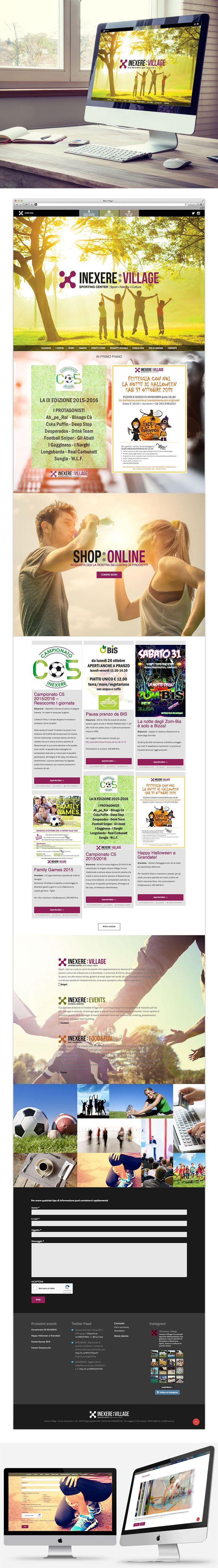 Un nuovo portale per completare il programma di comunicazione integrata di Inexere Village, che ha come obiettivo principale lo sportivo e il mondo del wellness living.